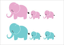 Elephant Group Royalty Free Stock Images