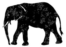 Elephant grunge illustration Royalty Free Stock Image
