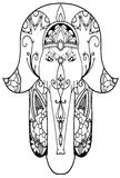 Elephant hamsa amulet Royalty Free Stock Photos