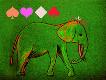 Elephant. Hand sketch of an elephant Stock Photo