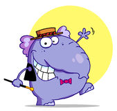 Elephant in a hat and bow tie Stock Photography