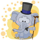 Elephant in hat Stock Photography