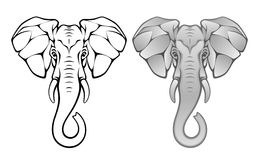Elephant head. On a white background vector illustration