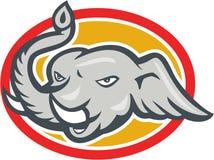 Elephant Head Cartoon Royalty Free Stock Images