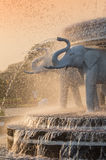 Elephant head fountain at BAPS Shri Swaminarayan Mandir in Atlanta, GA - the largest Hindu temple outside of India Royalty Free Stock Images