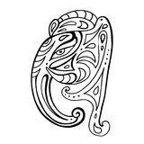 Elephant head.. Ganesha Hand drawn illustration. Stock Photography