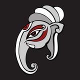 Elephant head.. Ganesha Hand drawn illustration. Stock Images