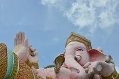 Elephant head god in pink Royalty Free Stock Image