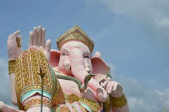 Elephant head god in pink Stock Image