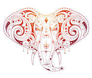 Elephant head ornamental Royalty Free Stock Photo