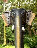 Elephant head statue Stock Photography