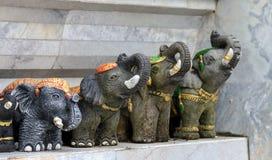 Elephant head stucco. Royalty Free Stock Image