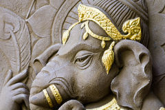 Elephant - headed god. Closed up elephant - headed god, Buddhist beliefs stock image