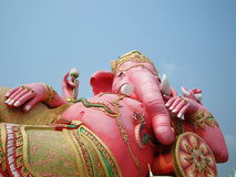 Elephant - headed god in pink Stock Images