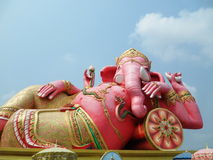Elephant - headed god in pink Royalty Free Stock Photos