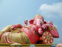 Elephant - headed god in pink Royalty Free Stock Photos