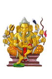 Elephant - headed god in temple Stock Image
