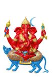 Elephant - headed god in temple Royalty Free Stock Photo