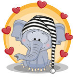 Elephant with hearts Stock Photos