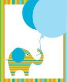 Elephant Holding Blue Ballons Stock Images