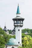 Elephant house in zoo Budapest, Hungary, sightseeing tower Stock Photos