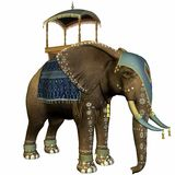 Elephant with Howdah Stock Photo