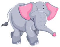 Elephant. Huge elephant standing on white background vector illustration