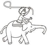 Elephant and hunter Royalty Free Stock Image