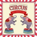 Elephant of carnival design. Elephant icon. Carnival festival fair circus and celebration theme. Colorful design. Vector illustration Stock Photos