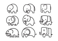 Elephant icon Royalty Free Stock Image