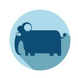 Elephant icon Royalty Free Stock Photos
