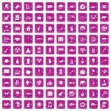 100 elephant icons set grunge pink. 100 elephant icons set in grunge style pink color isolated on white background vector illustration vector illustration