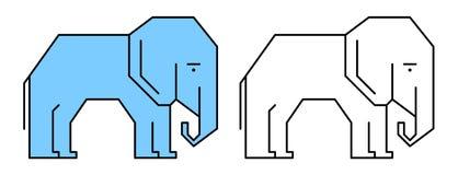 Elephant illustration Royalty Free Stock Images