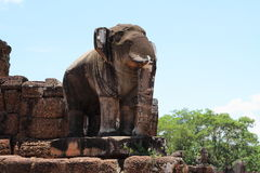 Elephant image at East Mebon in Angkor Royalty Free Stock Photos