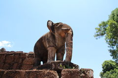 Elephant image at East Mebon in Angkor Stock Photos