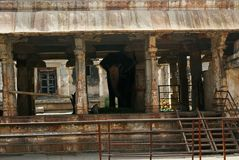 An elephant, an important inmate of the temple, Virupaksha Temple, Hampi, karnataka. Sacred Center. stock photography