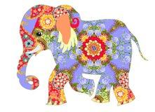 Elephant. Indian decorative pattern. Stock Photo