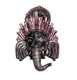 Elephant Indian god Ganesh on white Stock Images