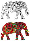 Elephant with Indian patterns Royalty Free Stock Image