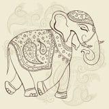 Elephant. Indian style. Royalty Free Stock Photography