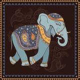 Elephant. Indian style. stock illustration