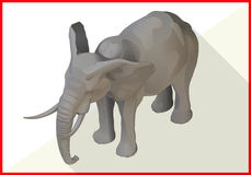 Elephant isometric flat vector 3d Stock Images