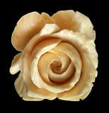 Elephant Ivory Rose Pendant Royalty Free Stock Image
