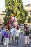 Elephant in Jaipur Fort stock photo