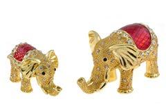 Elephant jewelry box Stock Photos