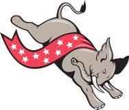 Elephant Jumping Democrat Mascot Royalty Free Stock Images