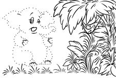 Elephant jungle coloring page Stock Photography