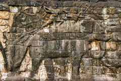 Elephant Khmer relief Royalty Free Stock Images