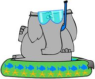 Elephant In A Kiddie Pool Royalty Free Stock Photo