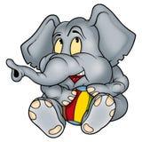 Elephant kittenish. Elephant and ball - Elephant kittenish - high detailed illustration Royalty Free Stock Image